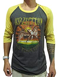 BUNNY Brand Mens Led Zeppelin U.S.Tour 1975 Concert Raglan T Shirt