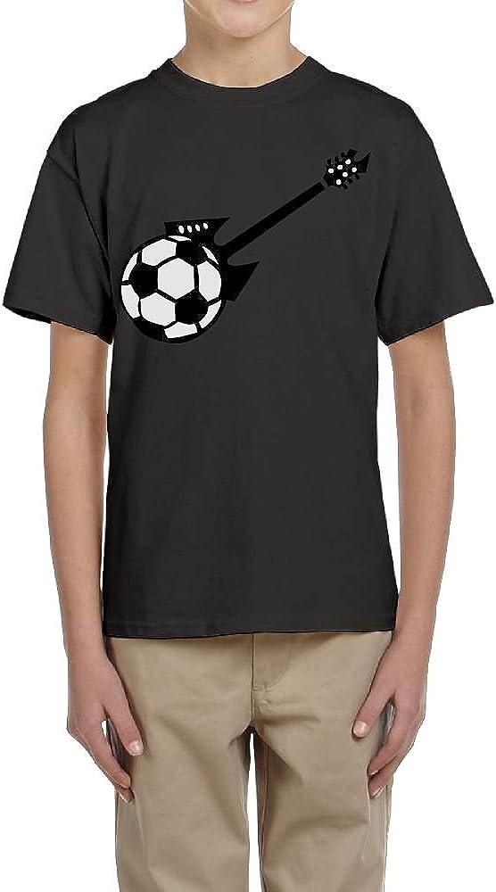 Fzjy Wnx Boys Short-Sleeve Shirt Crew Electric Guitar Soccer