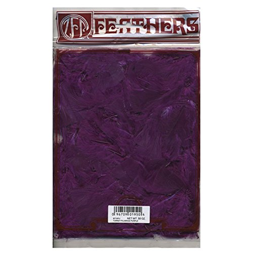 Zucker Feather (TM) - Loose Turkey Plumage Dyed - Purple