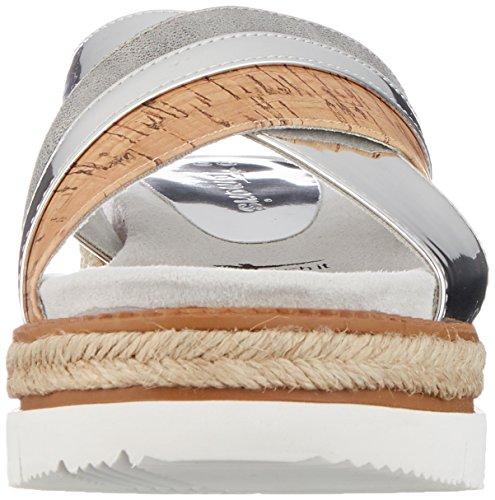 948 27228 Comb Tamaris Silber silver Mules Argent Femme Comb Uq747wC