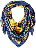 Lake Como SCARVES - Texture Barocco Scarves - Blue Gold