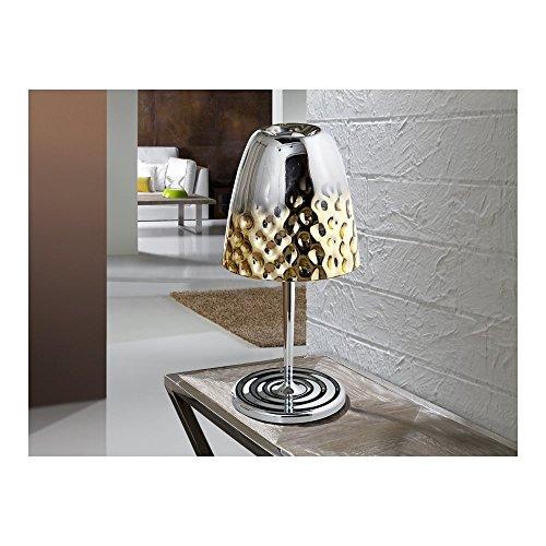Schuller Spain 436350I4L Modern, Art Deco Chrome Dome Table Lamp 1 Light Living Room, bed room, Study, Bedroom LED, Dome Chrome Table Lamp | ideas4lighting by Schuller