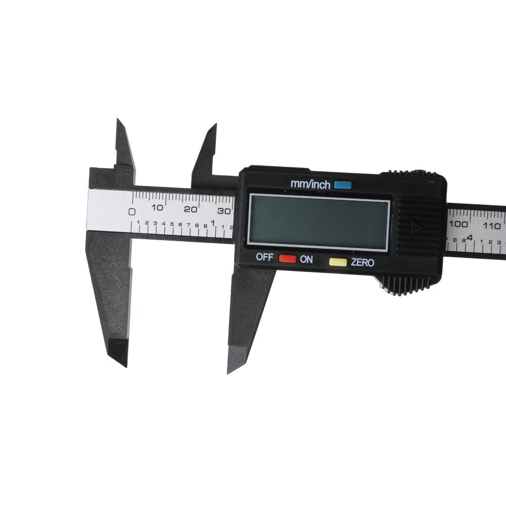 Electronic Digital Caliper Inch/Metric Conversion 0-6 Inch/150 mm Carbon Fiber Body/Black Extra Large LCD Screen Auto Off Featured Measuring Tool Chengsan