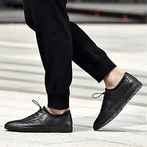 Seasons Tela Hombre Calzado Wwjdxz Zapatos Puede Tabla Negro Usar De Unisex Four Casual Cuero Zapatillas waUxqvSn