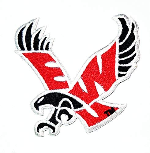 Eastern Washington University Eagles Patch Embroidered Iron On Applique Patch Jacket T Shirt Patch Sew Iron on Embroidered Symbol Badge Cloth Sign Costume