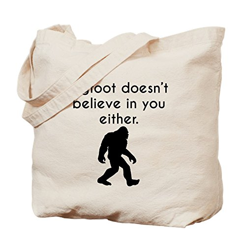 Bigfoot Cloth Doesn In Either Natural T Bag CafePress Bag You Believe Tote Canvas Shopping dxRnw6