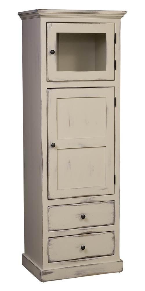 Layla Linen Cabinet in Buttermilk Finish