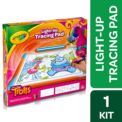 Crayola Trolls Light Up Tracing Pad Gift, Toys for Girls Age 6+