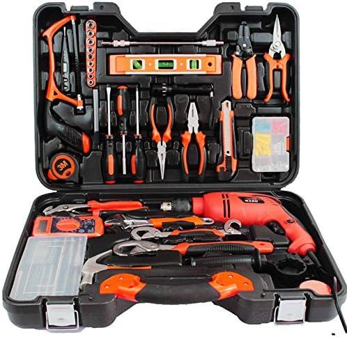 KTH Conjunto de combinación de Herramientas de Hardware Carpintería Electricista Manual Caja de Herramientas Taladro eléctrico: Amazon.es: Hogar