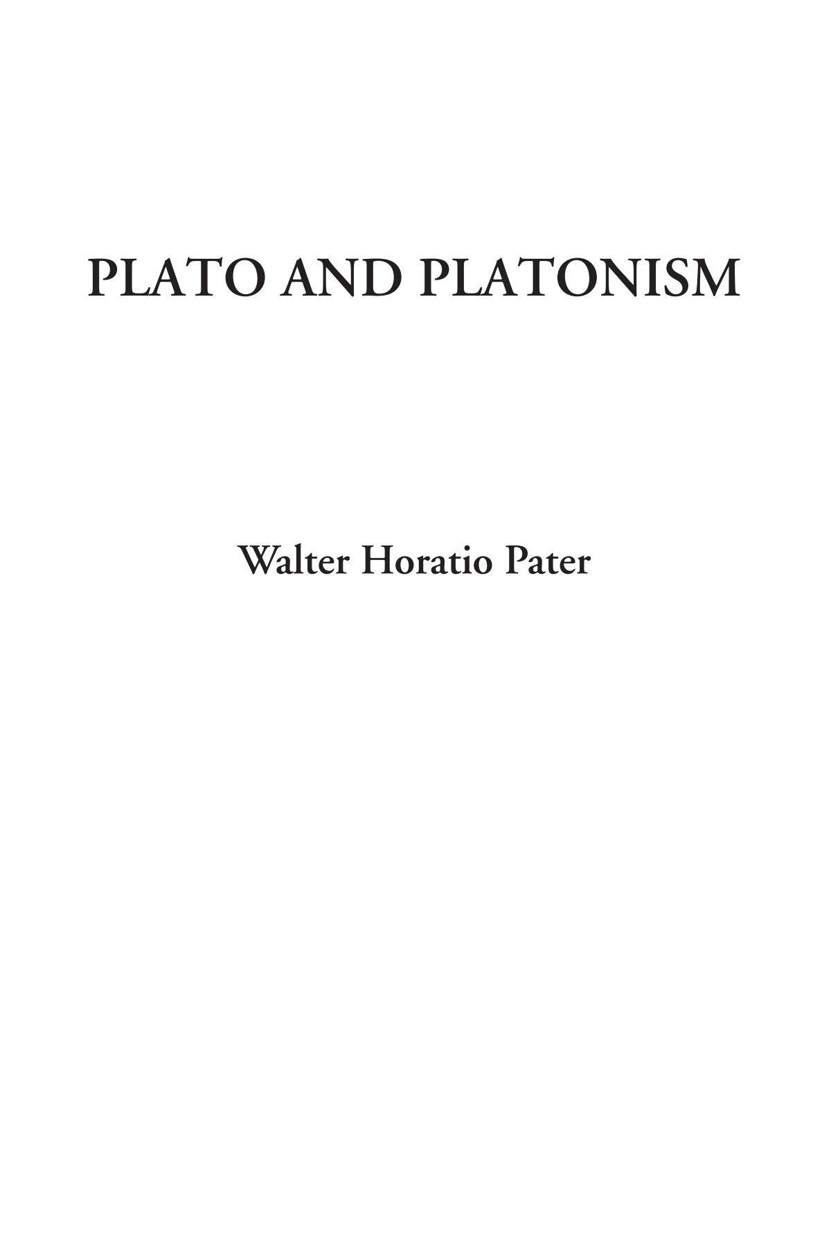 Plato and Platonism pdf epub