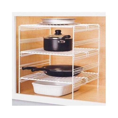 Grayline 40918, 3 Adjustable Base Cabinet Helper Shelf, White
