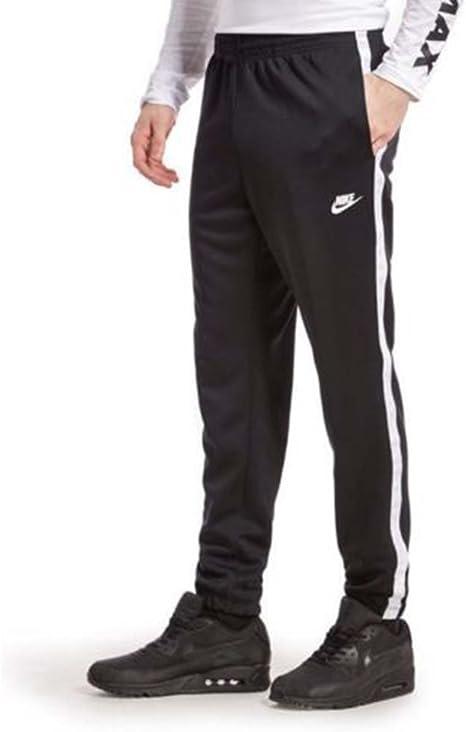 Nike 839617 010 - Pantalones de chándal para Hombre (Talla Mediana), Color Blanco y Negro: Amazon.es: Deportes y aire libre