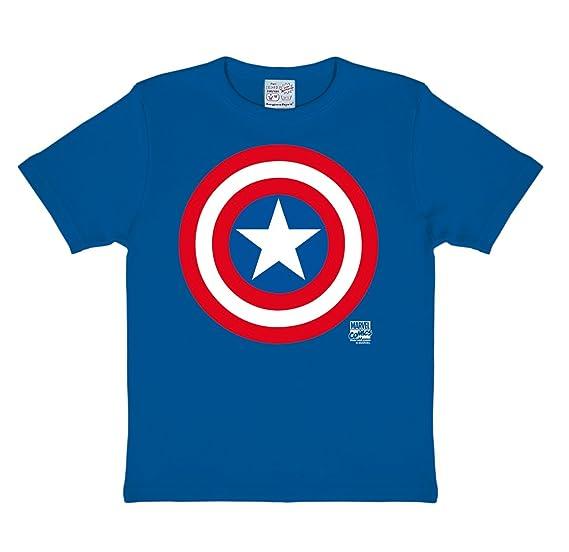 9f4962a5a Logoshirt Camiseta para Niño Capitán América Logo - Marvel Comics - Captain  America Shield - Azul
