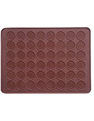 AxeSickle 1pcs Macarons Silicone Mat Baking Mold ,Almond muffin chocolate chip cookies - 48 Capacity