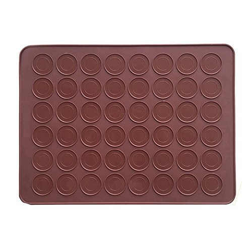 AxeSickle 1pcs Macarons Silicone Mat Baking Mold,Almond muffin chocolate chip cookies - 48 Capacity