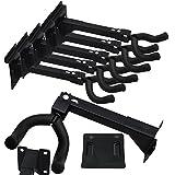 "Set of Five (5) Adjustable Guitar & String Instrument Hanger Hook Holder ~ Mount with Screws, Bolts, or Included Standard 3"" OC Slat Wall Bracket ~ Suitable for Retail Store Shop Display Fixture"
