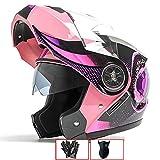 Adjustable Personality Graffiti Full Face Modular Open Face Motorcycle Helmet, Double Flip Up