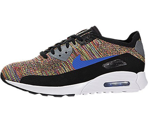 7339b59ede Galleon - NIKE Womens Air Max 90 Ultra 2.0 Flyknit Running Trainers 881109  Sneakers Shoes (US 6, Black Medium Blue Cool Grey 001)