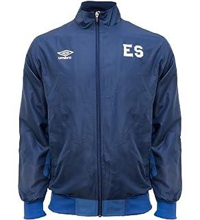 Men/'s Track Jacket El Salvador Color Navy Blue//White