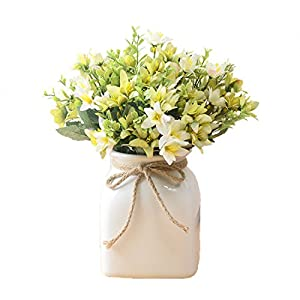 Calcifer 10 Sets(5 Stems/Set) 11.42'' Oil Painting Daffodils Artificial Flowers Bouquet for Home Decoration/Wedding Decor 43