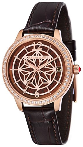 Thomas Earnshaw Womens The Lady Kew Watch - Brown/Rose Gold