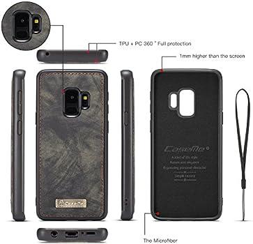 Ysimee Compatible avec Samsung Galaxy S9 Plus Coque Cuir R/étro Portefeuille Magnetique Etui Wallet Case avec Fentes de Cartes Poche avec Fermeture /à Glissi/ère Housse de Protection,Violet