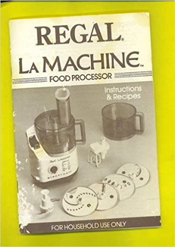 Moulinex la machine ii food processor manual recipes booklet moulinex la machine ii food processor manual recipes booklet regal amazon books forumfinder Image collections