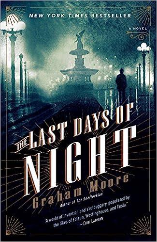 The Last Days Of Night A Novel Graham Moore 9780812988925 Amazon
