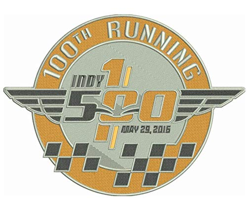 100TH Running INDY 500 Patch 2016 Jersey Style 4