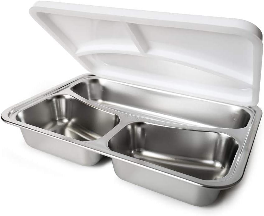Spice Amarillo Inox Trio Scaldavivande Lunch Box 40 W 1litro Set 2 Vaschette acciaio inox e coperchio di tenuta