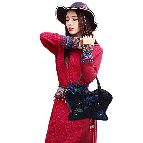 Black Butterfly Women 2Archer Bag Girl Genda Tote Hobo Fashion Shoulder zvTqFC