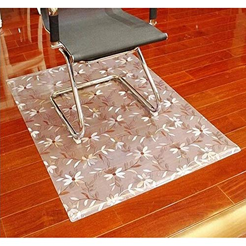 - JXWANG Carpet Protector Chair Mat Carpet Floor Protection PVC Printed Flower Translucent Durable Scratch Resistant,2mmThickness-80x80cm