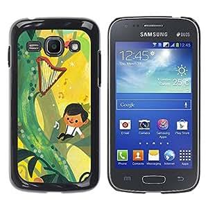 Paccase / SLIM PC / Aliminium Casa Carcasa Funda Case Cover para - Fairytale Yellow Music Boy Mother Mom - Samsung Galaxy Ace 3 GT-S7270 GT-S7275 GT-S7272