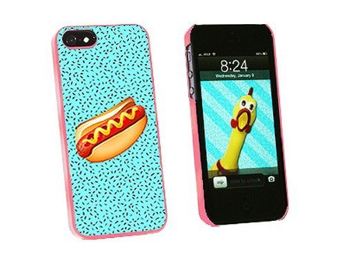 Graphics and More Hot Dog of Awesomeness Snap-On Hard Protective Case for iPhone 5/5s - Non-Retail Packaging - Pink