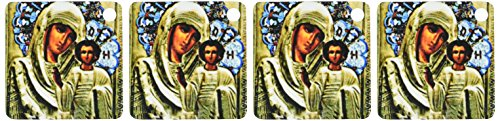 3d Rose 3dRose Russian Icon of the Blessed Mary - Key Cha...