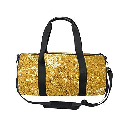 ALAZA Hipster Gold Glitter Sparkles Sports Gym Duffel Bag Travel Luggage  Handbag for Men Women 80 bb2d2dc8cb8af