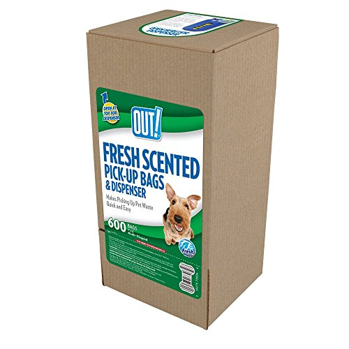 OUT! Dog Waste Pickup Bags (Yellow - Fresh Scent, 600ct) -