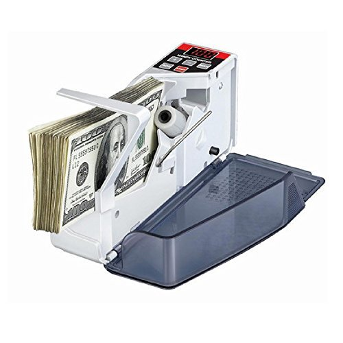 Anself Portable Mini Handy Money Currency Counter Cash Bill Counting Machine AC100-240V Financial Equipment