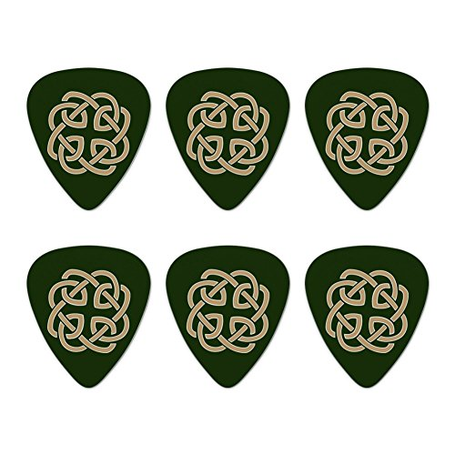(Celtic Knot Love Eternity Novelty Guitar Picks Medium Gauge - Set of 6 )