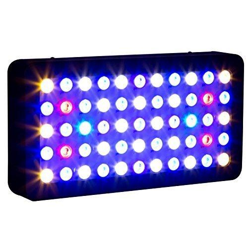 Roleadro 165w Dimmable LED Aquariumbeleuchtung für Fisch Riff Korallen Led Meerwasser Lamp for Fish Tank und Nano Aquarium / 400x212x60mm / Schwarz
