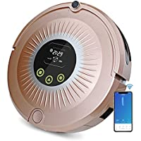 FENGRUI FR-sunflower Robot Vacuum Cleaner With Docking Station 1200Pa Strong Suction Quiet Self Charging For Hard Floors To Medium Pile Carpets Pink