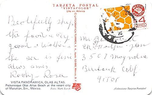 Mazatlan, La Perla Olas Atlas Mexico Postcard Tarjeta Postal ...