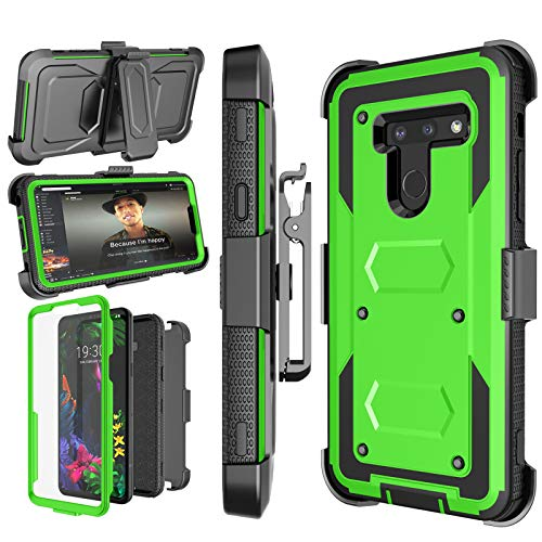 (LG G8 ThinQ Case, LG G8 Case, 2019 LG G8 Holster, Njjex [Nbeck] Shockproof Heavy Duty Built-in Screen Protector Rugged Locking Swivel Belt Clip Kickstand Hard Shell Cover for LG G8 ThinQ 6.1