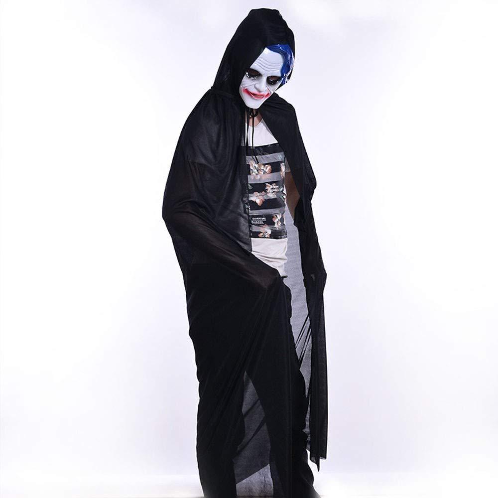 Lovewe Turtle Neck Bronzing Grim Reaper Cloak Coat Wicca Robe Halloween Party Ghost clothes,Halloween Constum (M)