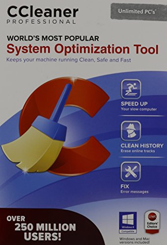 CCleaner Professional System Optimization Tool  Unlimited Home Use (Cleaner Software Mac)