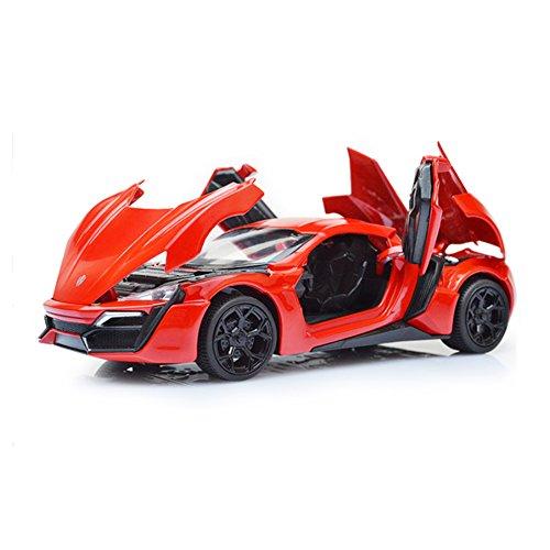 Mallya 1:32 Red Lykan Hypersport Diecast Model Car