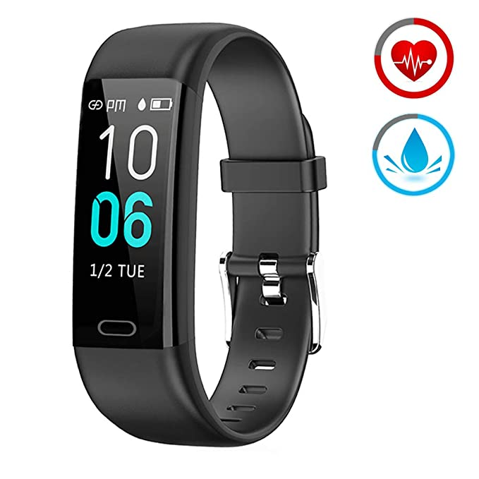 Fitness Tracker Activity Tracker with Heart Rate Monitor Waterproof Smart Watch with Sleep Monitor Blood Pressure Pedometer Calorie Compatible with ...