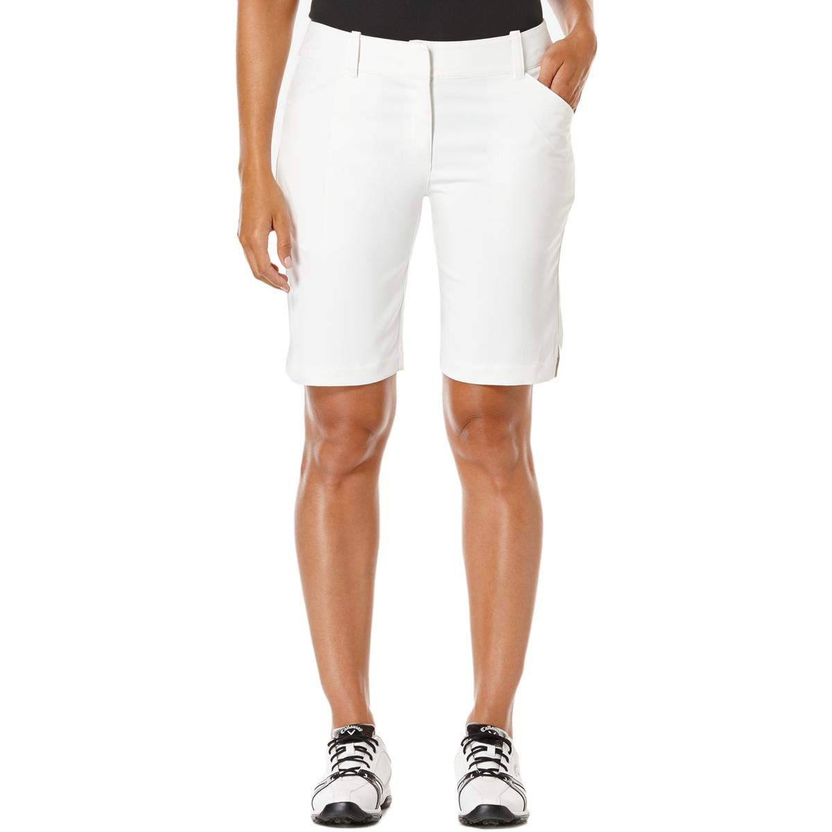 Callaway Women's Golf Performance 19'' Woven Shorts, Bright White, Size 14 by Callaway