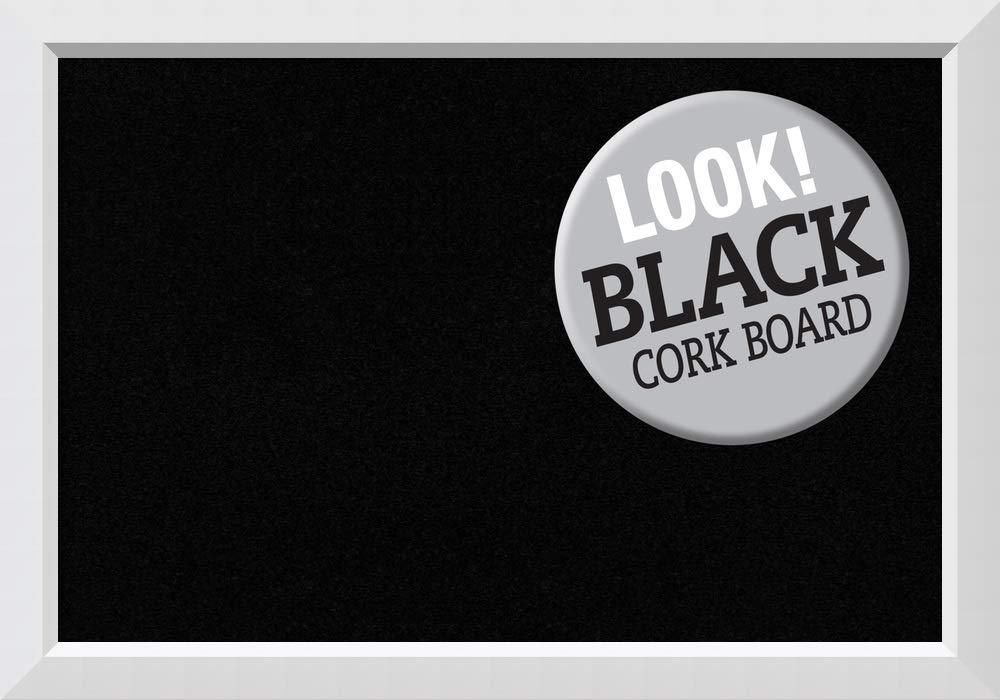 Amanti Art Black Cork Blanco White Framed Bulletin Boards, Size 36x24