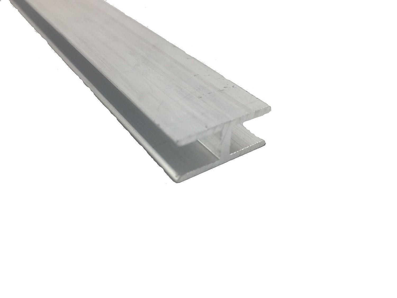 9 mm x 20 mm x 6mm x 1.4mm x 500 mm 1000 Profil/é en H en aluminium